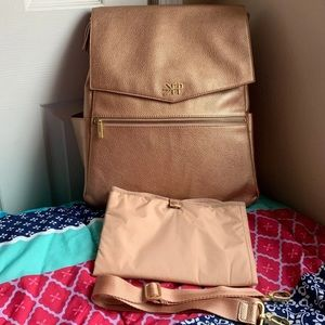 Freshly Picked rose gold Classic diaper bag